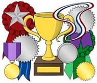honors and awards with trophies graphic
