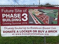 phase 3 sign with drawing of new building