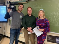 Steve Shurtleff, Emily Frazini and Andy, a wfmj photographer