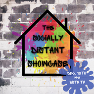 socially distant showcase graphic