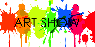 art show graphic with primary paint colors