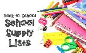 Back to School supply lists graphic
