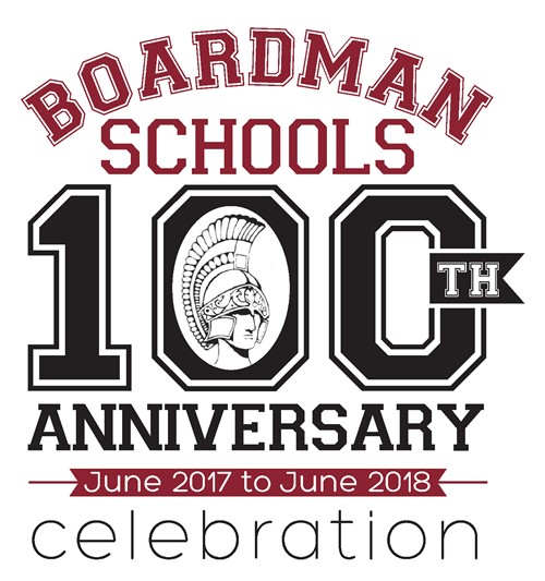 Boardman 100th anniversary logo