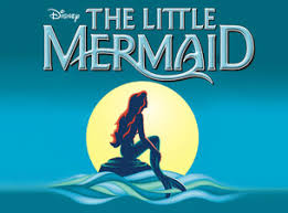 Disney's The Little Mermaid graphic with Ariel and the moon.