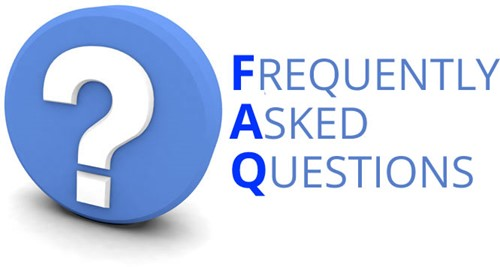 Frequently asked questions blue graphic