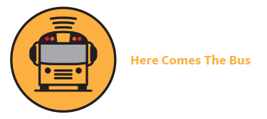 here comes the bus logo