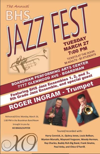 JAZZFEST MARCH 27, SPECIAL GUEST ROGER INGRAM