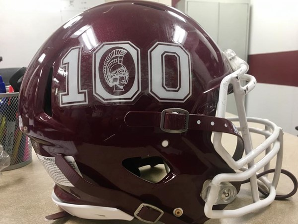 "Every helmet had ""100"""