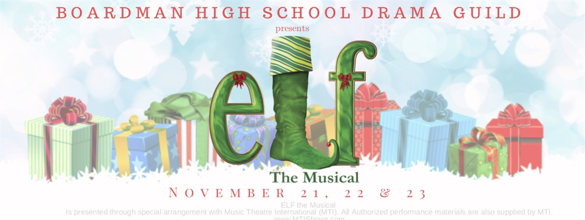 Elf the Musical to be presented by the BHS Drama Guild Nov. 21-23