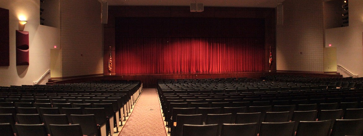 Boardman Performing Arts Center seating facing stage