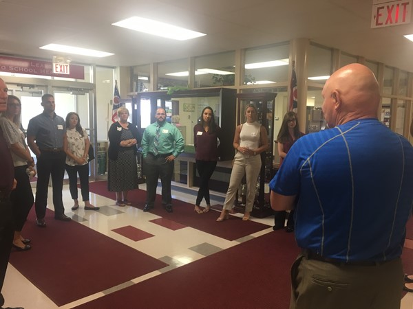 new teachers visit Robinwood Elementary School as part of their 7 building tour.