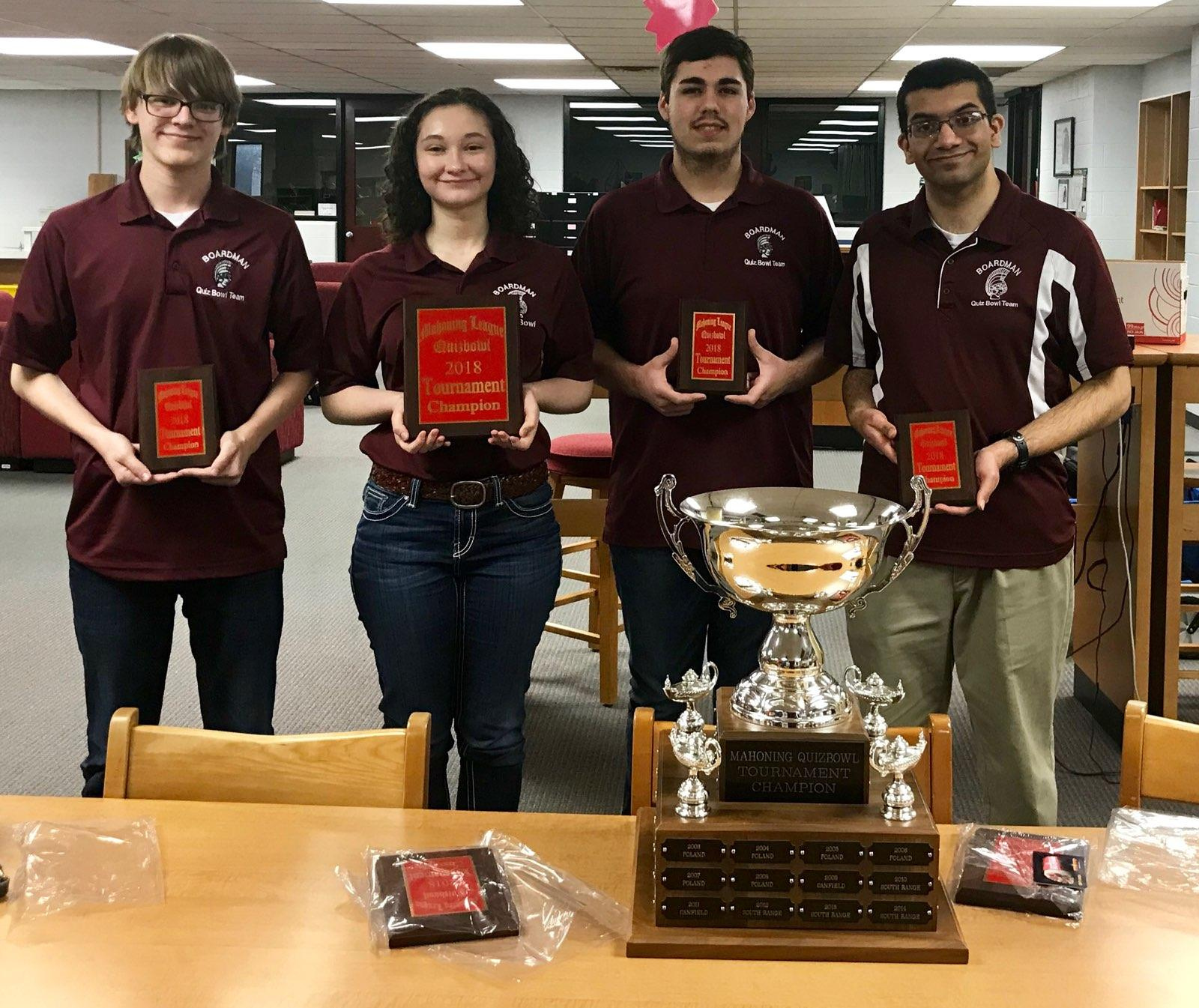 quiz Bowl Mahoning League Champs 2018