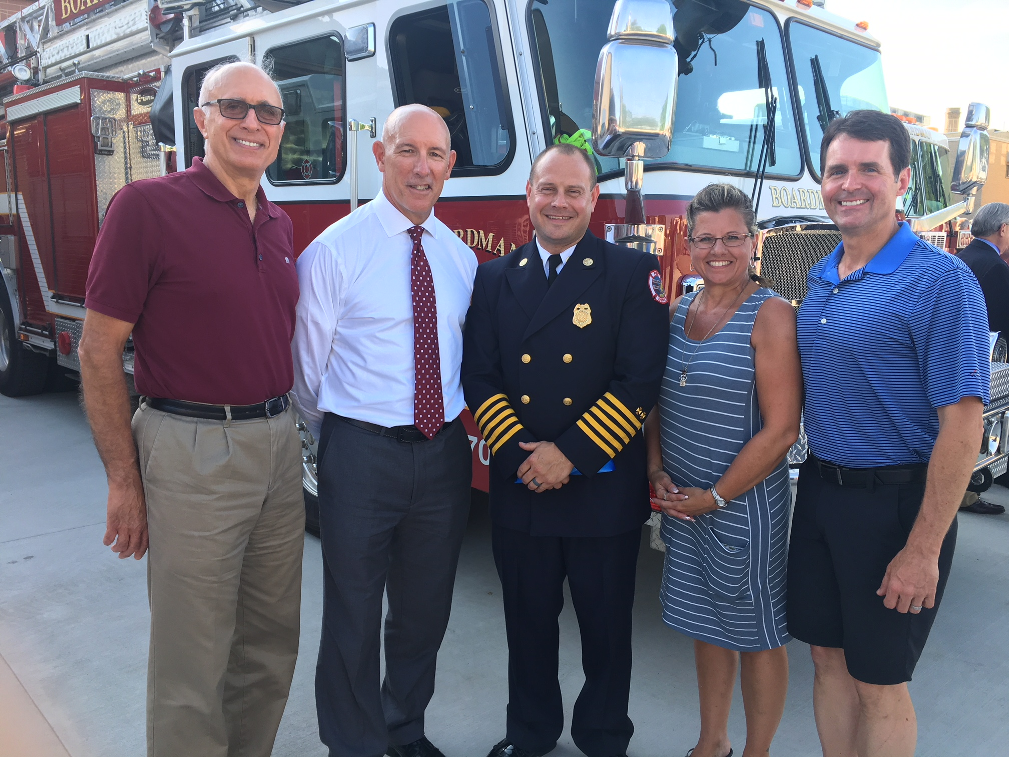 Frank Lazzeri, Tim Saxton, Chief Mark Pitzer, Vickie Davis, Jeff Barone