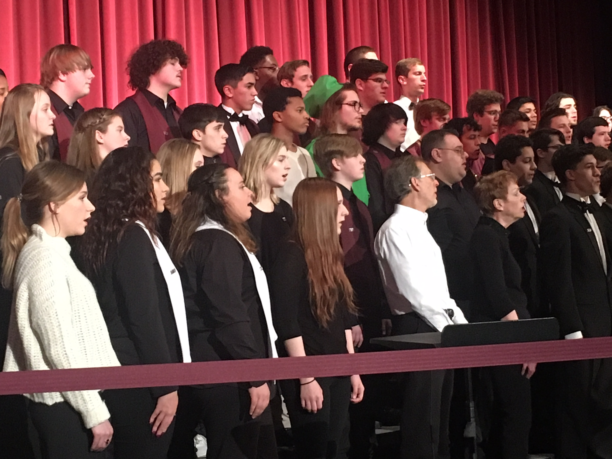 More than 40 alumni sang alongside current choir members
