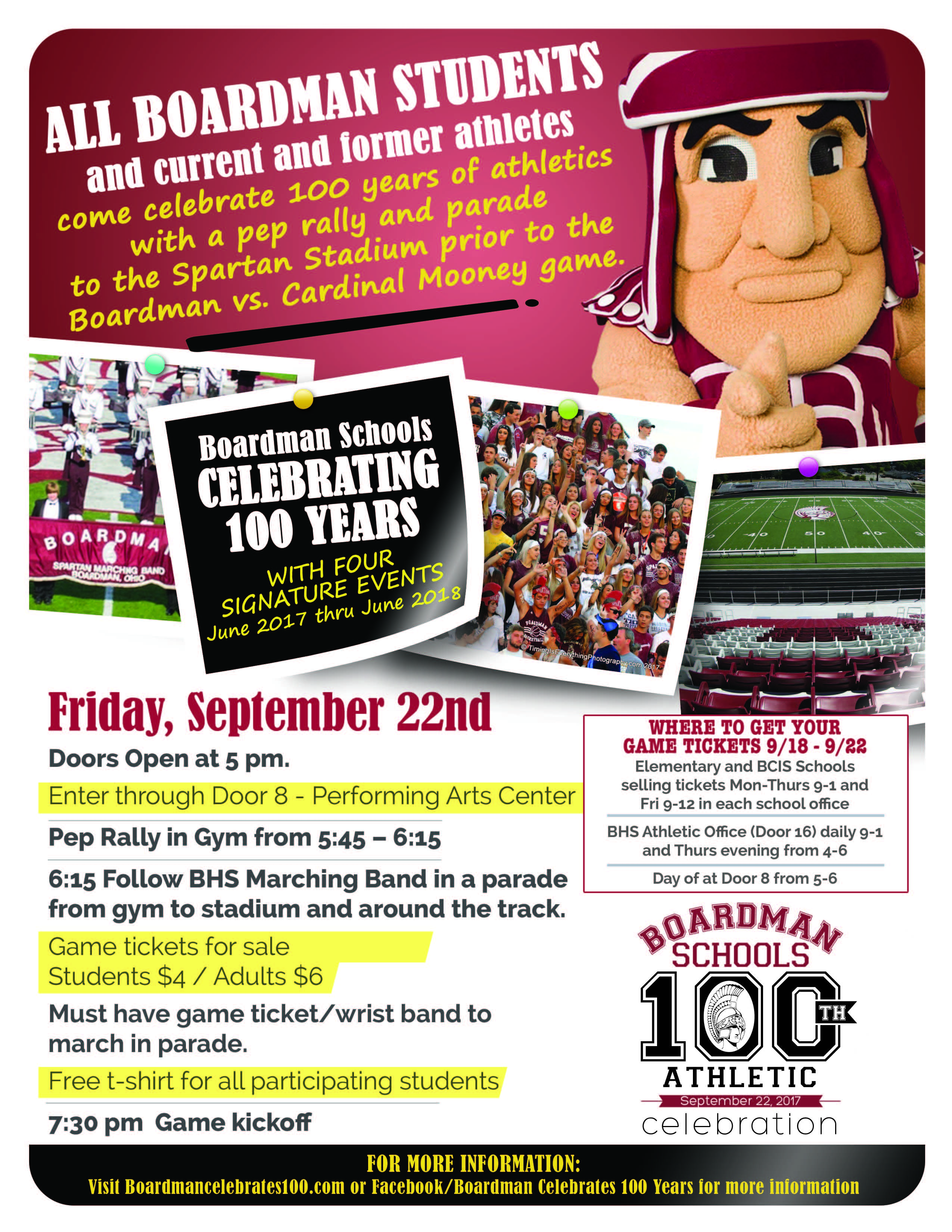 100 year athletic event friday, september 22