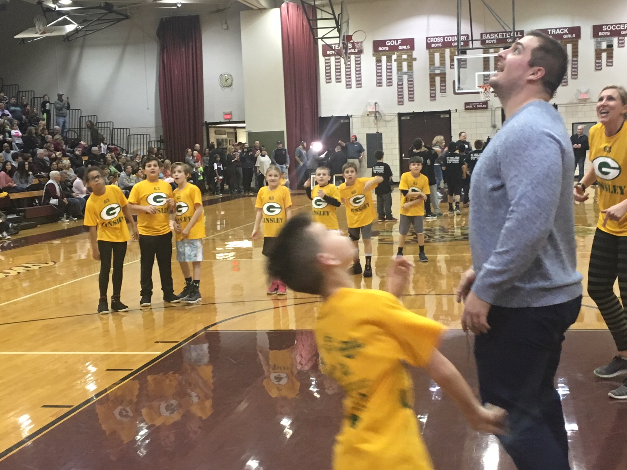 Corey rebounds during elementary night contest